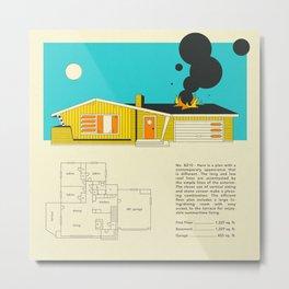MID CENTURY HOME DESIGN 8210 Metal Print