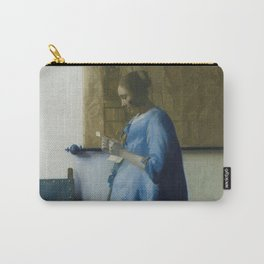 Letter reading woman - Johannes Vermeer (ca. 1663) Carry-All Pouch