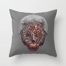 Zombie Wolf Throw Pillow