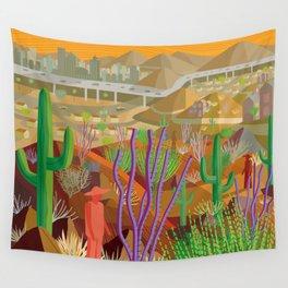 Desert City Phoenix Wall Tapestry