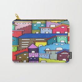 Crazy Houses Carry-All Pouch