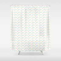 sprinkles Shower Curtains featuring Sprinkles by Holly Illustrates
