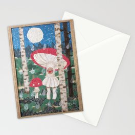Two Mushrooms Stationery Cards