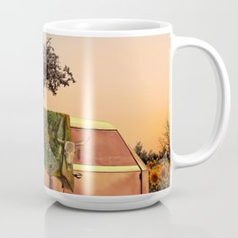 summer sunset landscape with skull and guitar Coffee Mug