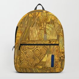 All the World is Gold symbolist portrait painting by Gustav Klimt Backpack