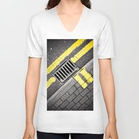 grid V-neck T-shirts featuring Grid by PRE Media