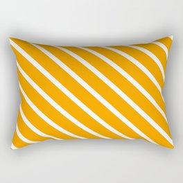 Neon Orange Diagonal Stripes Rectangular Pillow