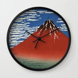 South Wind, Clear Sky (Gaifū kaisei or 凱風快晴) Wall Clock