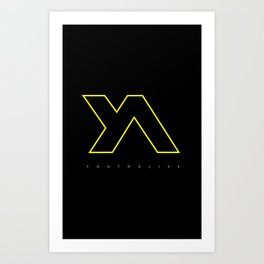Youth Alive Yellow & Black on Black Art Print
