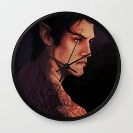 Rhysand Rhys Court of Thorns and Roses portrait Wall Clock