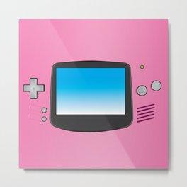 Pink Nintendo Gameboy advance Metal Print