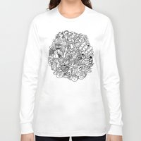 doodle Long Sleeve T-shirts featuring Doodle  by Vibe-Art