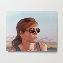 Sarah Connor Metal Print