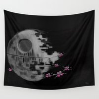 death star Wall Tapestries featuring Death Star by Berta Merlotte