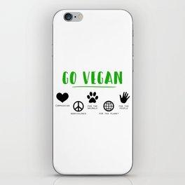 Go Vegan iPhone Skin