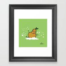 Goat Cheese & Pears Framed Art Print