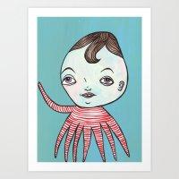 waldo Art Prints featuring Waldo Octopus by turddemon