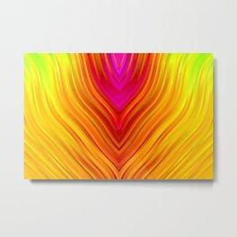 stripes wave pattern 3 s180 Metal Print