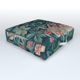 William Morris Forest Rabbits and Foxglove Outdoor Floor Cushion