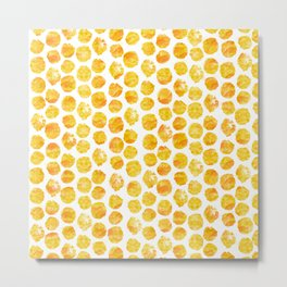 Yellow Polka Dots Metal Print