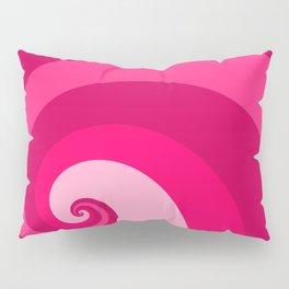 pink wave Pillow Sham