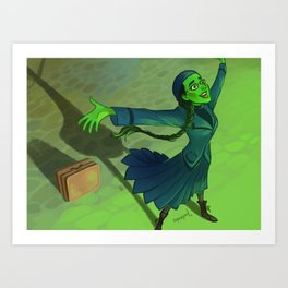 wizard and I Art Print