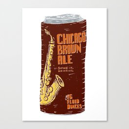 Chicago Brown Ale Canvas Print