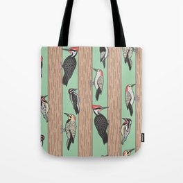 Woodpeckers Pecking Tote Bag