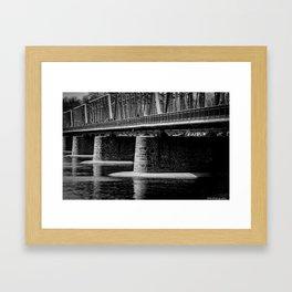 Lambertville Bridge Framed Art Print