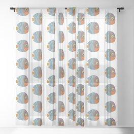 Fish art 21.2 Sheer Curtain