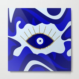 Lava All Seeing Evil Eye Metal Print