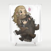 fili Shower Curtains featuring Cuddly~ by AlyTheKitten