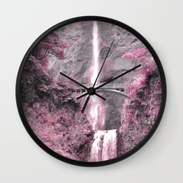 PRETTY IN PINK - MULTNOMAH FALLS Wall Clock