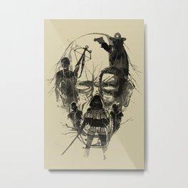 Dead Walker Metal Print