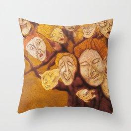 The Laid-Back Ones Tree / A Árvore dos Pacatos Throw Pillow