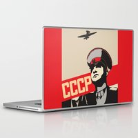 marx Laptop & iPad Skins featuring SOVIET RED ARMY by Sofia Youshi