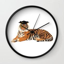 Graduation Tiger Wall Clock