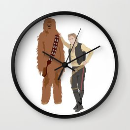 Han Solo and Chewbacca Wall Clock