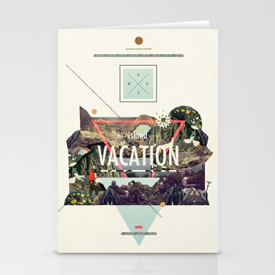 island Vacation Stationery Cards