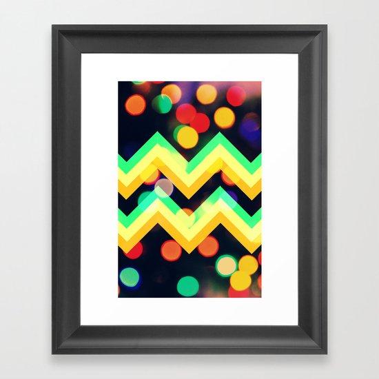Bokeh Chevron Framed Art Print
