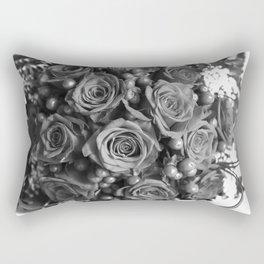 Roses (black and white) Rectangular Pillow