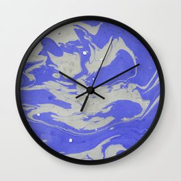 Blue Marble Pattern Wall Clock