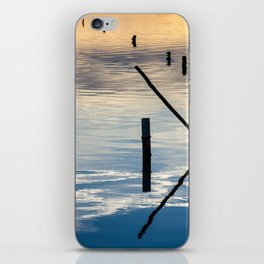Pieces of wood reflection iPhone Skin