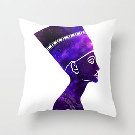 Queen Nefertiti Nebula Galaxy Throw Pillow
