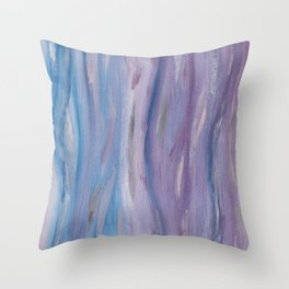 Touching Purple Blue Watercolor Abstract #2 #painting #decor #art #society6 Throw Pillow