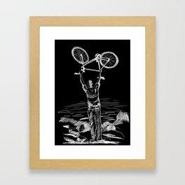 Bike Contemplation Framed Art Print