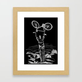 Bike Contemplation Framed Art Print