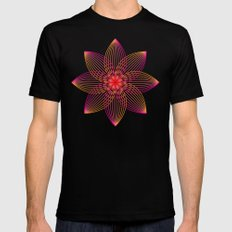 Gradient Strings Blossoms MEDIUM Black Mens Fitted Tee