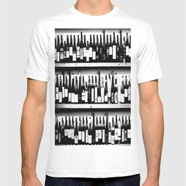 Wine Bottles in Black And White #decor #society6 #buyart T-shirt