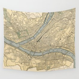 Vintage Map of Pittsburgh PA (1891) Wall Tapestry